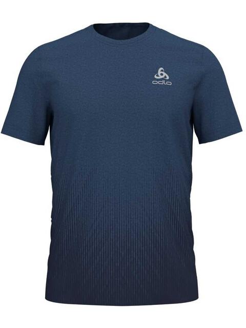 Odlo BL Millennium Element SS Top Crew Neck Men ensign blue melange-blackcomb